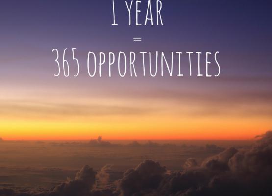 1 Year = 365 Oppotunities